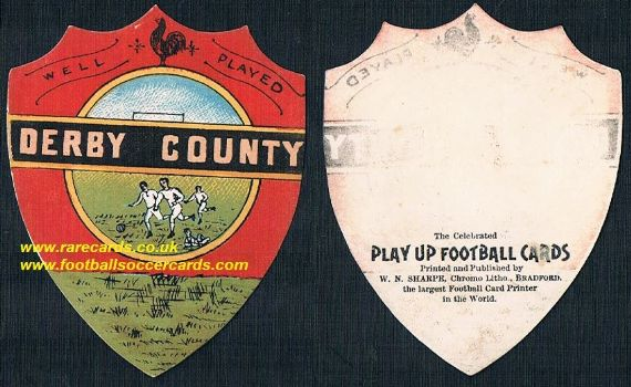 1880s Derby County card by Sharpe's of Bradford